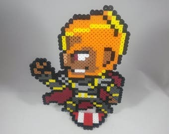 Ganondorf - Legend of Zelda - Nintendo Super Smash Bros - Perler Bead Sprite Pixel Art Figure Stand or Lanyard Necklace