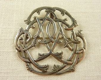 Vintage Sterling Large Intricate Brooch or Pendant