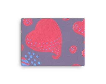 lollipop attacked by hearts Canvas