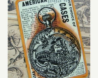 ONSALE Antique Pocket Watch Collectors Card Lot
