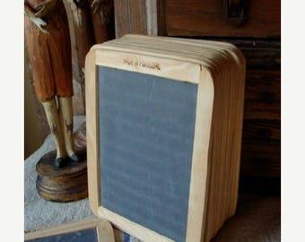 ONSALE Stunning Antique Unused Double Sided School Slate Board Chalk Board, Farmhouse Chic White Decor for Menu