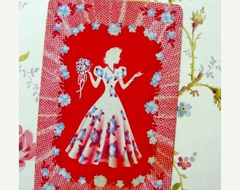 ONSALE Antique Frilly Silhouette Cards