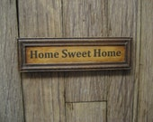 Dollhouse Miniature Home Sweet Home Picture Country Sign