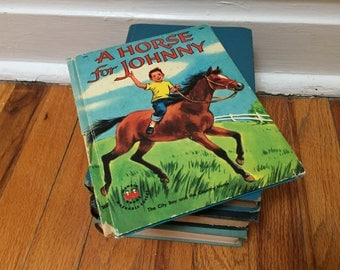 A Horse for Johnny Book Children's Book Distressed Hardcover Wonder Books