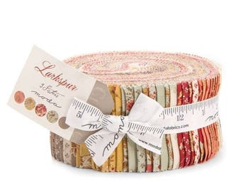 SALE Larkspur Jelly Roll Fabric - 3 Sisters - Moda