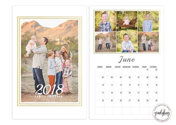 11x17 calendar template