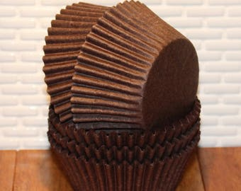 Brown Cupcake Liners (Qty 45)  Brown Baking Cups, Brown Muffin Cups, Cupcake Liners, Baking Cups, Muffin Cups