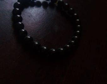 Shungite Bracelet EMF Protection Fits a wrist of 7&1/2 inches 8mm round stones