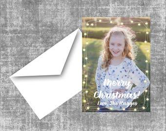 Christmas Lights Digital Christmas Card