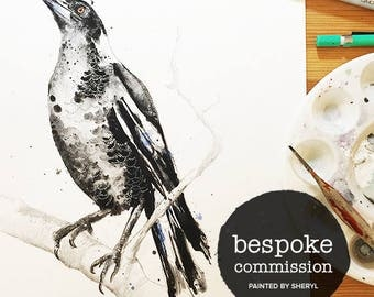 Bespoke commission watercolor painting