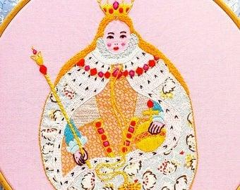 Gloriana Elizabeth I Embroidery Pattern - PDF