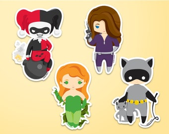 Gotham Sirens Stickers