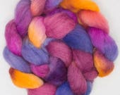 Hand dyed tops, Exmoor, fibre,  Exmoor Blueface, rare breed, hand dyed roving, Blueface, spinning wool, felt making, Handspinning, Fiber