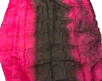 Fuchsia and Black Silk Veil