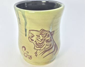 Olive Green Tiger Mug