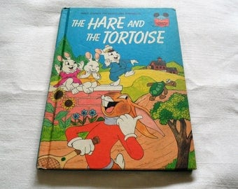 Walt Disney The Hare And The Tortoise Hardcover 1981