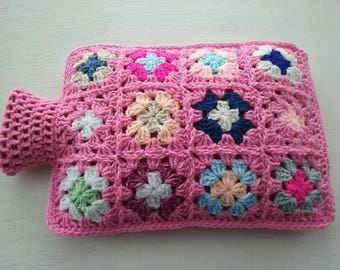 Hot Water Bottle Cover - Cozy in Shades of a Dusky Pink