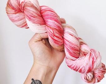 Neopolitan Ice Cream - Hand dyed 4ply/sock yarn 100g/400m superwash merino, nylon blend