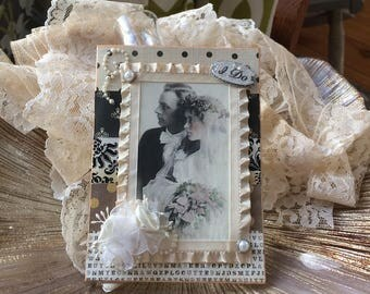 Victorian Wedding Card - Vintage-style Wedding Card - Handmade Wedding Card - Wedding Couple Card - Vintage couple card