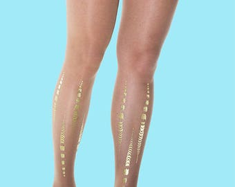 Tattoo tights Bamboo, available in S-M, L-XL