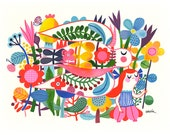 Scandinavian Dream... - limited edition giclee print of an original watercolor illustration (8 x 10 in)