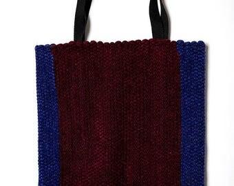 40% SUMMER SALE The Vintage Purple Eggplant And Maroon Red Tote Shoulder Bag