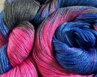 "3 Ply Sheentastic Fingering Weight Yarn ""Fantastic Beasts"" Superwash Merino/Bamboo/Nylon. Sock Yarn, hand dyed yarn, weaving yarn"