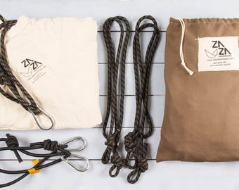 Baby Hammock Swing & Accessory Set Premium Pack Zaza Nature  -Natural cotton hammock + Zaza Bounce Kit + Extra Rope Set.  Travel cot