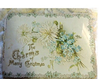 Victorian Christmas Book - Die Cut Christmas Booklet - 1800's - REDuCED