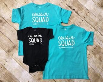 Cousin Squad. Cousin Squad shirts. Cousin Crew. Cousin Squad. Cousin Tribe. Family shirt set. All sizes. Cousins Best Friends.