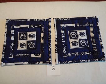 Penn State potholders-quilted pair#2