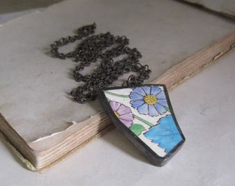 Recycled Plate Necklace