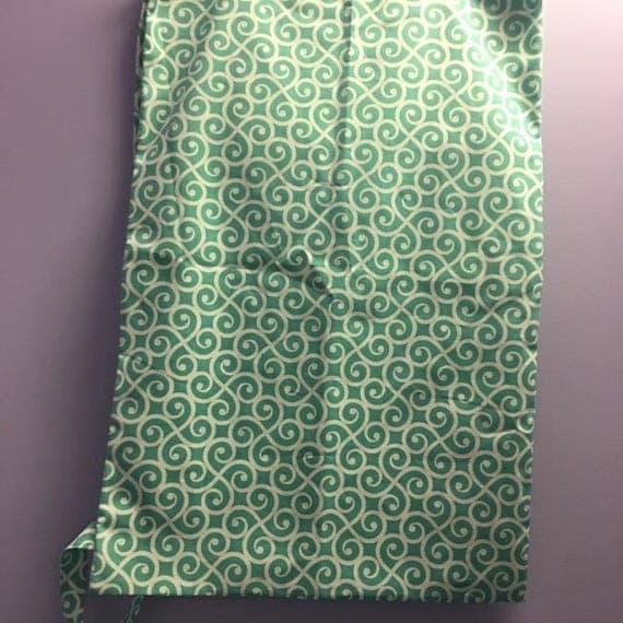 Personalized Aqua Swirl Print Laundry Bag