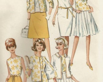 Vintage 60s Simplicity 5927 UNCUT Misses Summer Wardrobe Mix or Match Separates Sewing Pattern Size 10 Bust 31