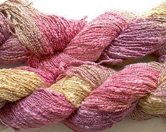 Jewel Twist, Hand-dyed Fine Rayon Boucle Yarn, 225 yds - Sandstone
