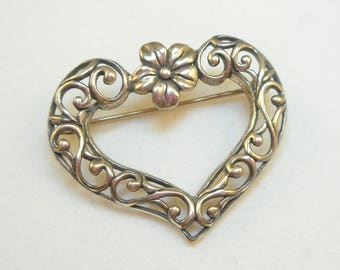 Sterling Heart Pin