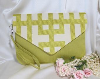 Clutch , Green clutch ,Beige clutch , Yellow clutch, purse ,  Gift for her , Evening clutch ,Envelope clutch , Wristlet strap clutch