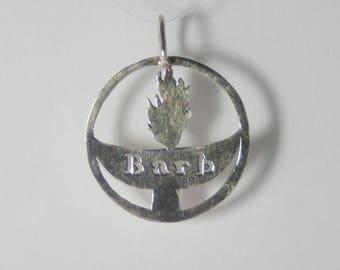 Unitarian Universalist (UU) Custom Name Chalice pendant silver