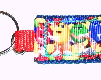Colorful M & M Candy Mini Pocket Keychain