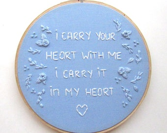 Baby Boy Nursery Art, Embroidery Nursery Sign, Gift for Newborn, Blue Baby Gift, Embroidery Hoop Flower Wall, Boy Nursery Room Art Kimart