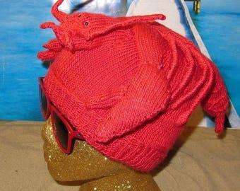 40% OFF SALE Instant Digital File pdf download Lobster Beanie Hat pdf knitting pattern