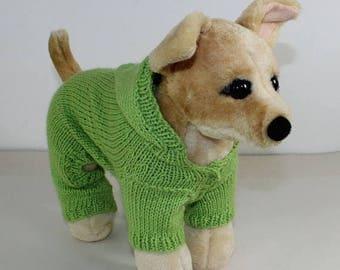 40% OFF SALE madmonkeyknits - Small Dog Hoodie Onesie knitting pattern pdf download - Instant Digital File pdf knitting pattern