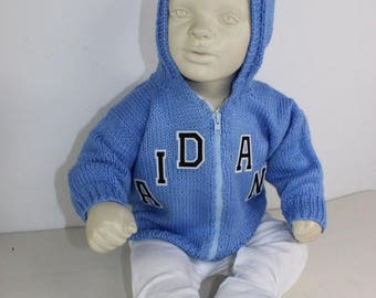 40% OFF SALE madmonkeyknits - Baby Zip Up Hoodie knitting pattern pdf download - Instant Digital File pdf knitting pattern