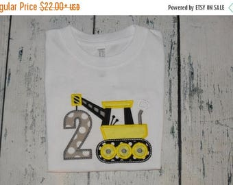 ON SALE PERSONALIZED Construction Crane Birthday Shirt  Monogrammed  Custom 1-8