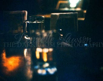 At The Bar.  Vintage Photograph.  Lustre Print.