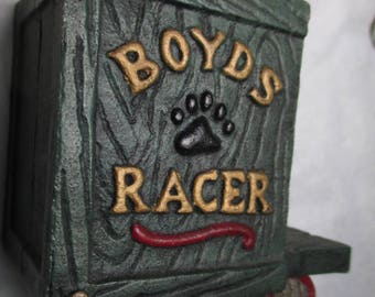 Boyds Bears Cast Iron HUCK'S Soap BOX RACER Toy boxcar collectible