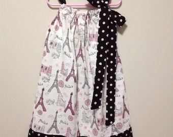 Ready to Ship!  Size 7 Paris Pillowcase Dress