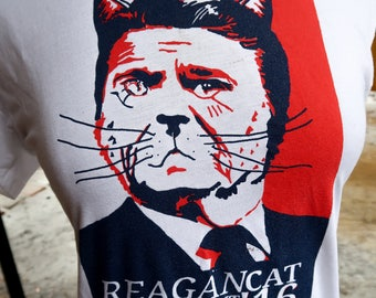 Reagan Cat for President tshirt by Boo Science