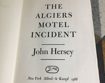 Vintage First Edition The Algiers Motel Incident John Hershey 1968