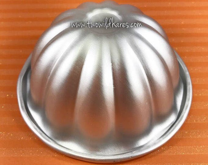 "LARGE PUMPKIN TOP Bath Bomb Mold, Metal, 3.5""x2"""